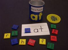 Literacy Center Activity - Word Family Cans