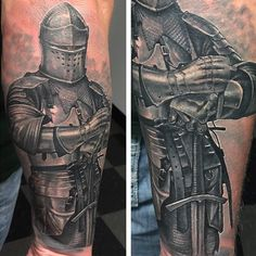 right arm knight tattoos for men - Google Search