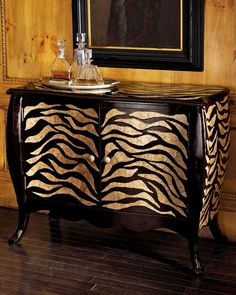 "Asian Bombay Chest | Tiger Bombay"" Chest _ Handcrafted of lacquered Asian hardwood with ..."