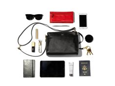 Current Obsession: Lo & Sons The Pearl Leather Crossbody Bag (Black with Gold Hardware)