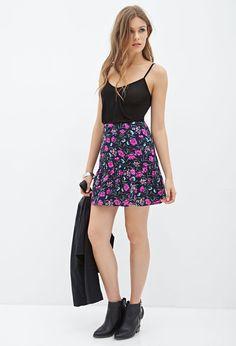 Floral Drop Waist Skirt #F21Contemporary
