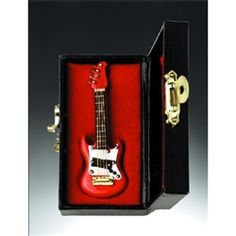 "3"" Red Electric Guitar Miniature Instrument #hiddentreasuresdecorandmore"