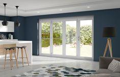 La Porte Vista White External Folding Door Set #externaldoors