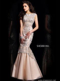 Mermaid Prom Dress With Cap Sleeves Sherri Hill 21051: DressProm.net