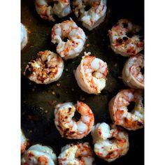Shrimps with chilli, coconut oil and lime juice