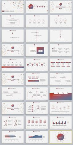 Red Business Report Professional Powerpoint Template