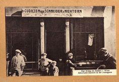 Wilna Postkarte I.Weltkrieg Schneider Geschäft in der Juden Gasse super Ansicht