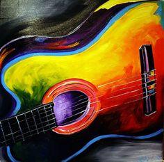 guitar with abstract paint job - Bing images art music art music Guitar Painting, Guitar Art, Music Painting, Violin, Music Artwork, Art Music, Musik Illustration, Art Portfolio, Love Art