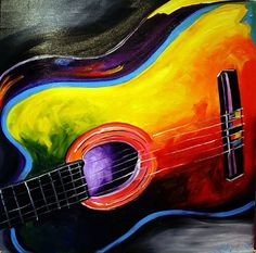 abstract guitar painting   The Guitar - by Laurie Justus Pace from abstract