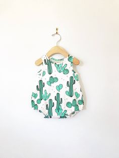 9448439243ca Cactus baby romper    Organic baby clothes    baby boy clothes    baby  playsuit    baby girl clothes    bubble romper    summer baby clothes
