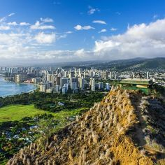 A late afternoon view of Honolulu and Waikiki from the summit of Diamond Head. Photo courtesy of brianthio on Instagram.
