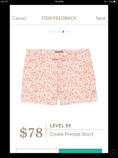 cute! like the pattern and color. a little pricey for shorts though Shorts 68347ea81f005