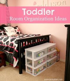The one place that can drive you crazy! Check out these Toddler Room Organization ideas that can help you keep your sanity.