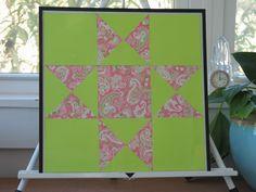 paper quilt framed