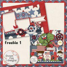 Scrapbooking TammyTags -- TT - Designer - Sweet Pea Designs,  TT - Item - Quick Page, TT - Style - Brag Book, TT - Theme - Patriotic or July 4th