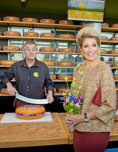 Dutch Queen Maxima (R) opens the new CONO Cheesemakers factory in Westbeemster, The Netherlands, 13.11.2014.