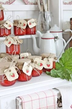 Mermeladas para regalar #Idea #DIY #Mermelada #Conservas #Invitados