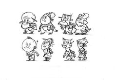 Some Alph and Betty prototypes-but who are those futurist couples...?