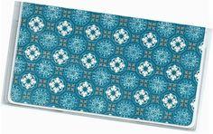 Checkbook Cover  January Medallion Floral by rabbitholeonline
