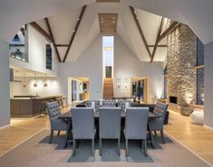 """Private Residence, Oxfordshire - dpa lighting consultants - """"Right Light, Right Place, Right Time"""" ™ Lounge Lighting, Living Room Lighting, Interior Lighting, Kitchen Lighting, Lighting Design, Residential Lighting, Spotlights, Downlights"""