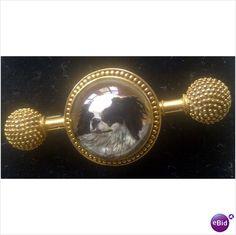 Antique18ct GOLD ESSEX CRYSTAL brooch