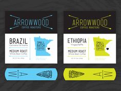 15 best business card design images on pinterest business card arrowwood roasters reheart Image collections