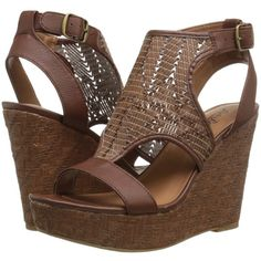 Lucky Brand Laffertie Women's Wedge Shoes, Brown ($45) ❤ liked on Polyvore featuring shoes, sandals, brown, wedge heel sandals, wedge sandals, lucky brand shoes, platform wedge shoes and brown platform shoes