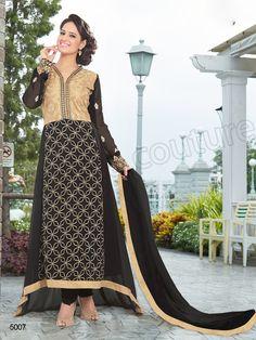 #Designer pakistani suits #Black & Beige #Indian Wear #Desi Fashion #Natasha Couture #Indian Ethnic Wear # Salwar Kameez #Indian Suit