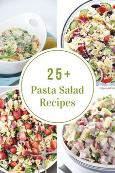 It& Summertime and that means lots of BBQ& I am always on the lookout for a new recipe to bring to these get togethers. I have collected over 25 Pasta Salad Recipes that are sure to have everyone wanting the recipe. Crab Pasta Salad, Pasta Salat, Pizza Pasta Salads, Veggie Pasta, Best Macaroni Salad, Best Pasta Salad, Pasta Salad Italian, Easy Salad Recipes, Salads