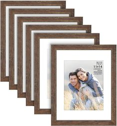 11x14 Picture Frame, Multi Picture Frames, Laid Back Style, Office Interiors, Wood Grain, Farmhouse Style, Contemporary, Wall Mount, Collection