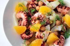 insalata di polpo, ceci, finocchi e arancia - La cucina italiana