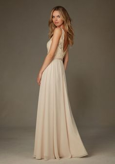 a6e3a2767ced4 011 Romantic Lace Top Bridesmaid Dress with Illusion Straps and a Chiffon  Skirt