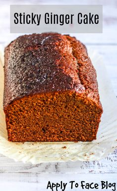 This sticky ginger cake just like my mum used to make. Packed full of ginger and sticky this recipe is fantastic and gets better the longer it sits there. Baking Recipes, Dessert Recipes, Desserts, Dutch Recipes, Cupcake Recipes, Sticky Ginger Cake, Recipe For Ginger Cake, Ginger Loaf Cake, Chocolate Loaf Cake