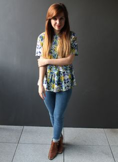Outfit // Floral Smock - Sweet Monday