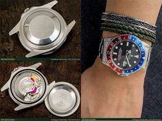 RoseGarden | ロレックス ヴィンテージ GMT-MASTER Ref.1675 フチなしトリチウム 赤青ベゼル カシメブレス仕様 - [ RG-1548 ]