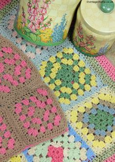 Vintage Home - Warm and Cosy Crocheted Cushion Cover: www.vintage-home....