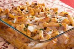 """We used to call this homemade hamburger helper! Bobby Deen lightened it up a bit, left out cream of mushroom soup and used low fat cheese  in """"From Mama's Table To Mine"""" & Cheeseburger Casserole Recipe.  It' still good!"""