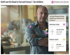 Vin Diesel (Domenic Toretto) Halskette (Silber Kreuz) aus dem Film Fast & Furious 7