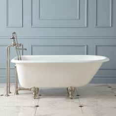 Celine Cast Iron Roll-Top Clawfoot Tub - Bathtubs - Bathroom