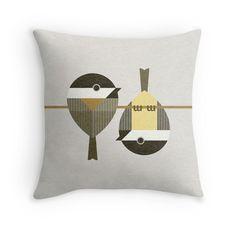 Chickadees Throw Pillows