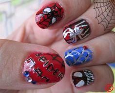 Spider Man Nails :)