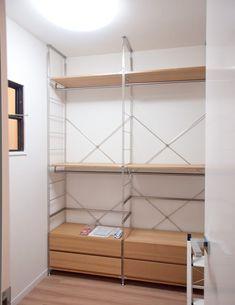 No Closet Solutions, Japanese Interior, Muji, Inspired Homes, Space Saving, Minimalism, Room Decor, Shelves, House Design