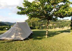 Kamperen met vrij uitzicht op een bijzonder mooi kampeerterrein in het zuiden van Le Marche