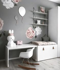 How pretty is this little girl's room by Stine S.moi 👈🏻 Shop Miffy lamp via the link in our bio 💕 . Baby Bedroom, Girls Bedroom, Miffy Lamp, Kids Room Design, Little Girl Rooms, Boy Room, Room Interior, Room Inspiration, Room Decor