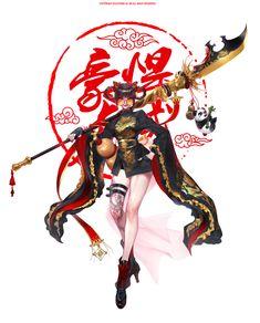 ArtStation - Chinese-style mercenary, sujin Park Female Character Concept, Character Design Animation, Female Character Design, Character Design Inspiration, Character Design References, Character Art, Anime Fantasy, Fantasy Art, Fantasy Characters