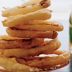 Crispy Onion Rings: Tempura batter...for this sensational version, the rings are thickly coated in an ultralight batter and quickly fried.
