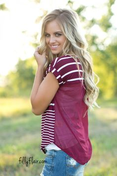 The perfect top for back to school outfits and fall!