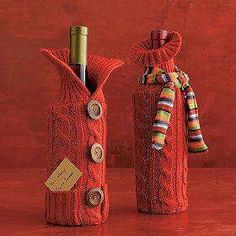 love these cute wine bottle sleeves, just cut off the sleeve of a sweater and use . - love these cute wine bottle sleeves, just cut off the sleeve of a sweater and use …, - Wine Bottle Gift, Wine Bottle Covers, Bottle Bag, Wine Bottle Crafts, Baby Bottle, Water Bottle, Craft Gifts, Diy Gifts, Holiday Crafts