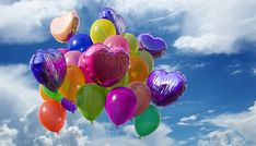 Bolas, Balão, Balões, Borracha, Plástico, Voar, Hélio