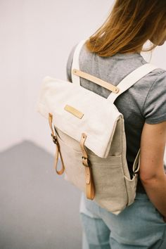 SALE: now up to 50% off - Newspaper Rucksack Natural
